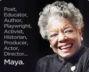 May Angelou smiling, poet,educator,author,playwright,activist,historian,producer,actor,director.