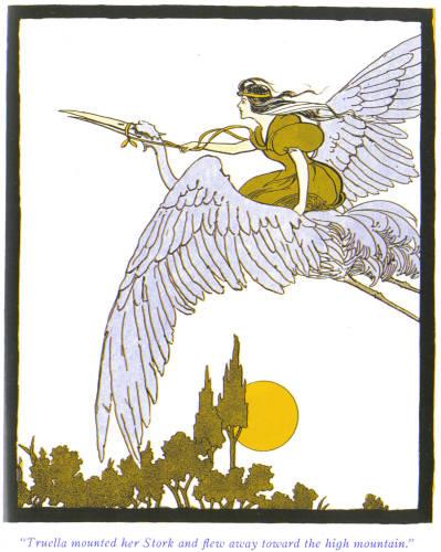 Princess-Truella-on-a-stork-illustration.
